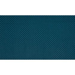 Baumwolljersey - dunkelblau / weiße Punkte