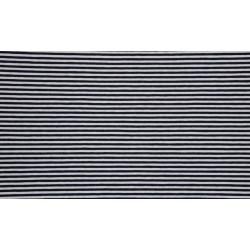 Baumwolljersey - Streifen navy / weiß