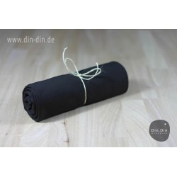 Baumwolljersey - schwarz uni