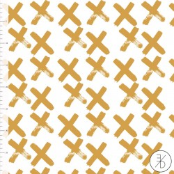 Bio-Baumwolljersey - Crosses gold