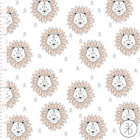 Baumwolljersey - Lions mint - Design von Elvelyckan