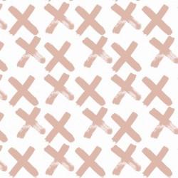 Bio-Baumwolljersey - Crosses rosé