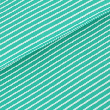 Bio-Baumwolljersey - Streifen smaragd