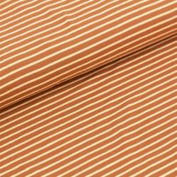 Bio-Baumwolljersey (Stoffonkel) - Streifen karamell
