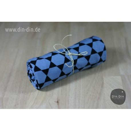 Baumwolljersey - Pisa geometrics - blau