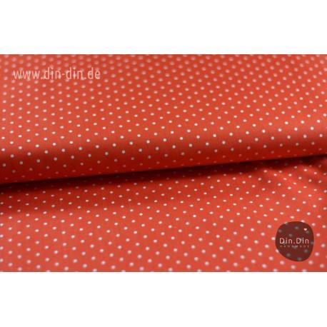 Baumwolle - Punkte, rot