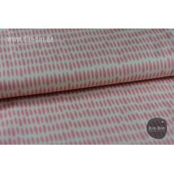 Baumwolle - Blätter, rosa