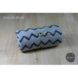 Sweat Chevron - blau/grau