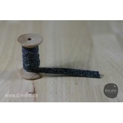 Kordel 1cm - dunkelblau melliert