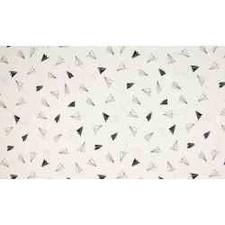 Baumwolljersey - Papierflieger