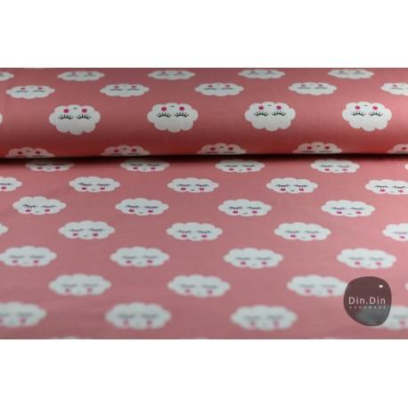 Baumwolljersey - Sleeping Clouds rosé