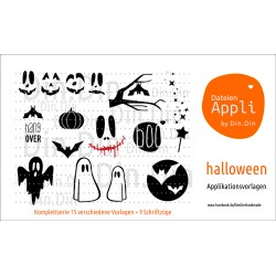 Halloween Applikationsserie