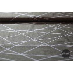 Baumwolljersey - Shape lines taupe