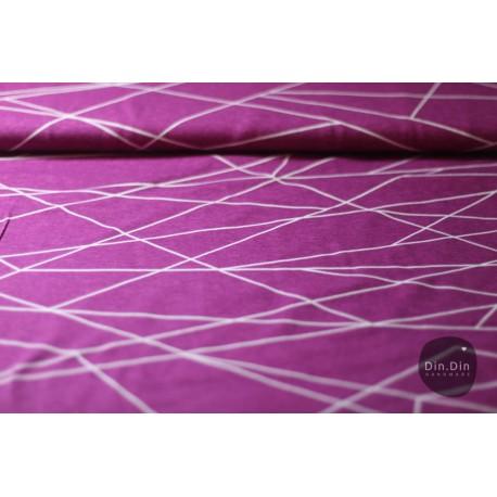 Baumwolljersey - Shape lines berry