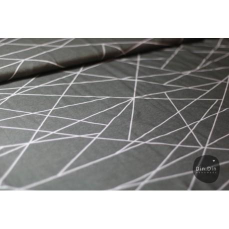 Baumwolljersey - Shape lines dark grey