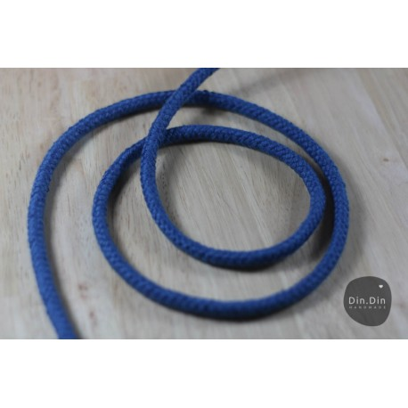 Baumwollkordel 8mm - blau