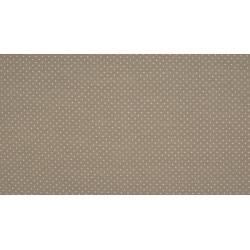 Baumwolljersey - grau / weiße Punkte