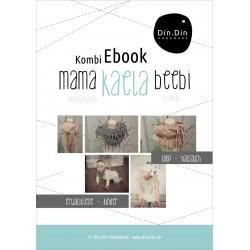 Komi-Ebook 2 in 1: mama & beebi kaela - Halstuch, Schal, Fransen-Loop