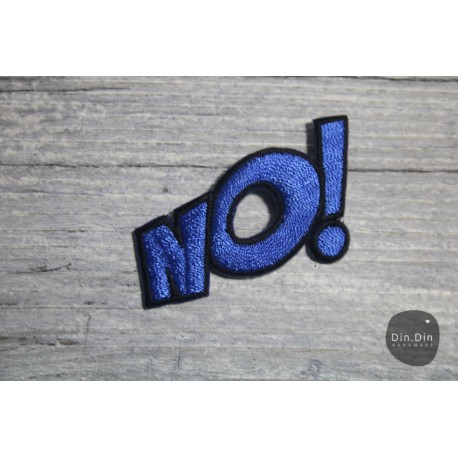 Patch - No, blau