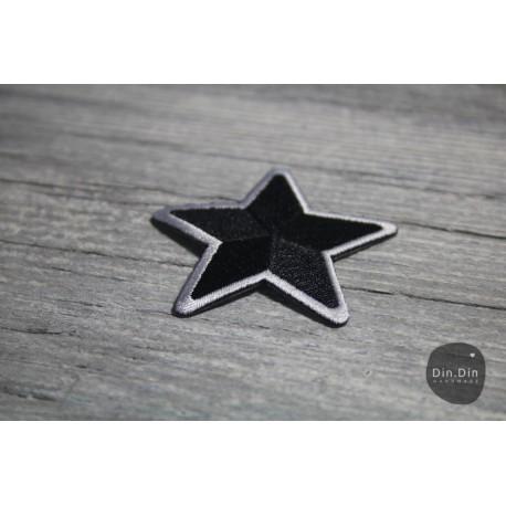 Patch - Stern, schwarz