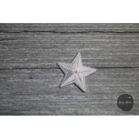 Patch - Stern klein, weiß