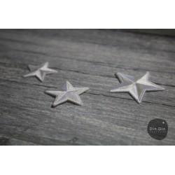 Patch - Stern groß, weiß