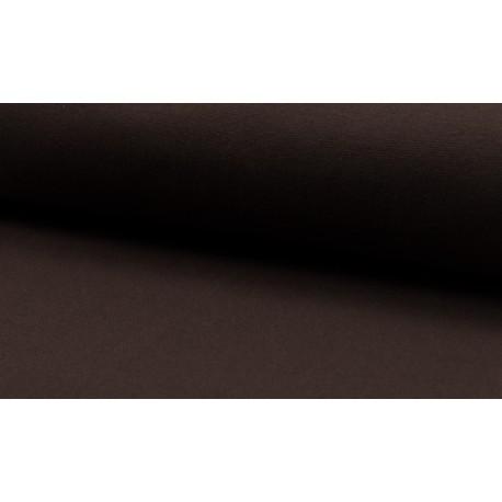 Feinstrick Bündchen glatt, dunkelbraun