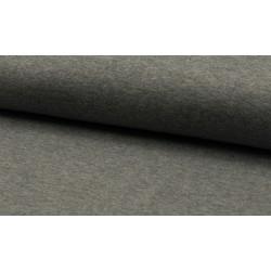 Feinstrick Bündchen glatt, grau melange