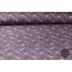 Baumwolljersey - Geometric, lila