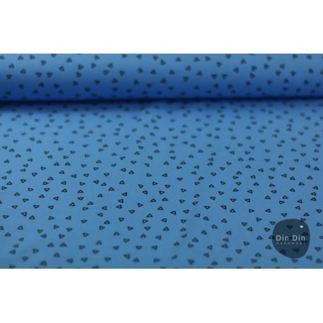Baumwolljersey - Triangle, blau