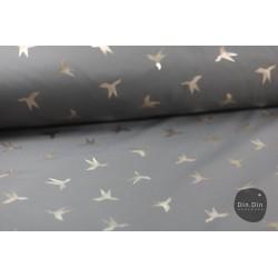 Softshell Bird - grau/gold