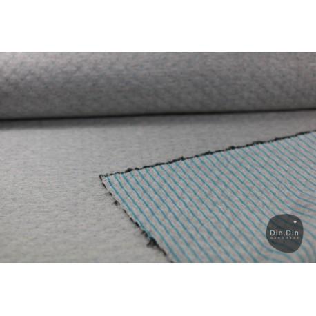 Stepp-Sweat Quilt, Double Face - grau/mint