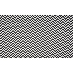 Baumwolljersey - Chevron weiß/schwarz