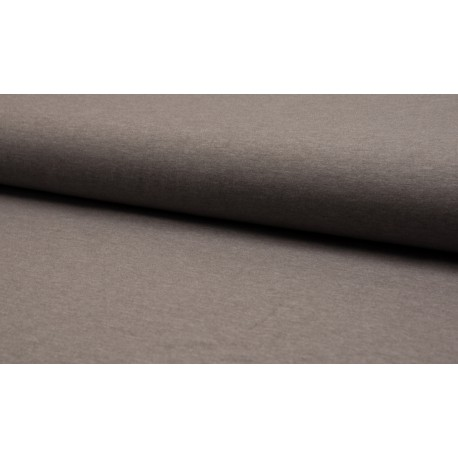 Poly Jersey meliert - taupe