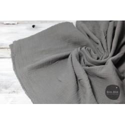 Musselin Baumwolle - grau