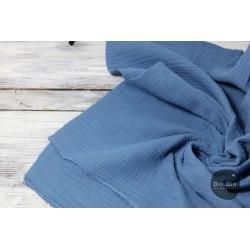 Musselin Baumwolle - blau