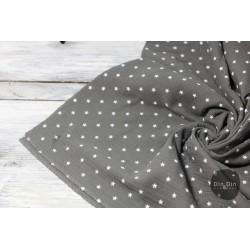 Musselin Baumwolle Sterne - dunkelgrau