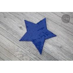 Patch - Pailletten Stern - blau