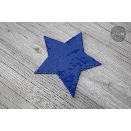Patch - Pailletten Stern - blau