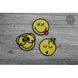 Patch - Smiley 3er Set