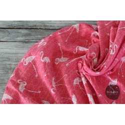Baumwolljersey Boho Flamingo - coral
