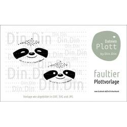 """Plotterdatei """"Faultier- Tierkopf"""""""
