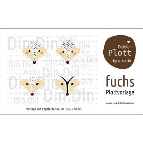 """Plotterdatei """"Fuchs- Tierkopf"""""""