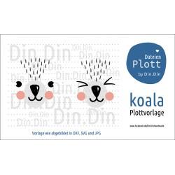 """Plotterdatei """"Koala- Tierkopf"""""""