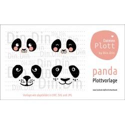 """Plotterdatei """"Panda - Tierkopf"""""""