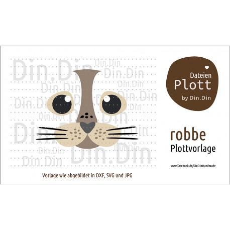 """Plotterdatei """"Robbe - Tierkopf"""""""