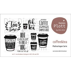 "Plotterdatei ""Coffee & Tea"""