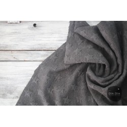 Stepp-Sweat Quilt, Stars - schwarz