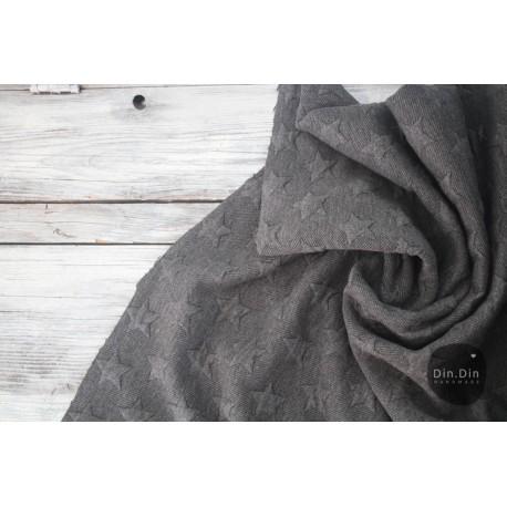 Stepp-Sweat Quilt, Stars - schwarz