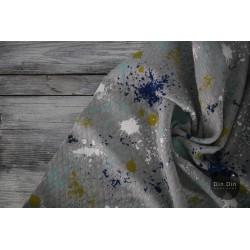 Stepp-Sweat Quilt, Painting Waffle - blau/mint